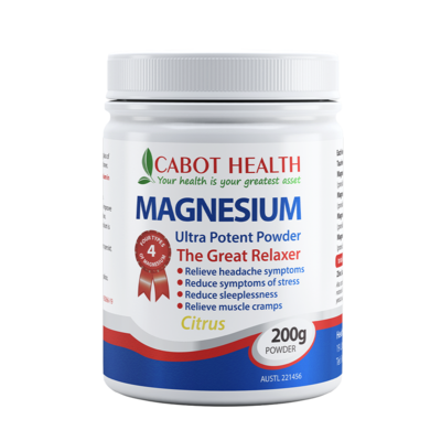 Magnesium Ultra Potent Powder Citrus 200g