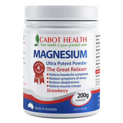 Magnesium Ultra Potent Powder Strawberry 200g
